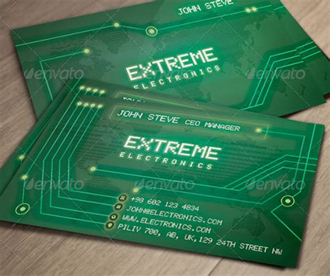 Electronic Card Templates designs for classic sized business cards