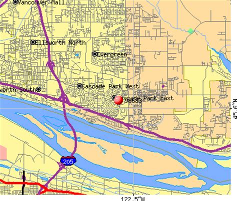 zip code maps vancouver wa vancouver washington map