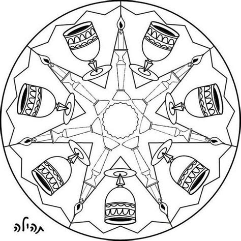 shabbat candles coloring page sketch coloring page