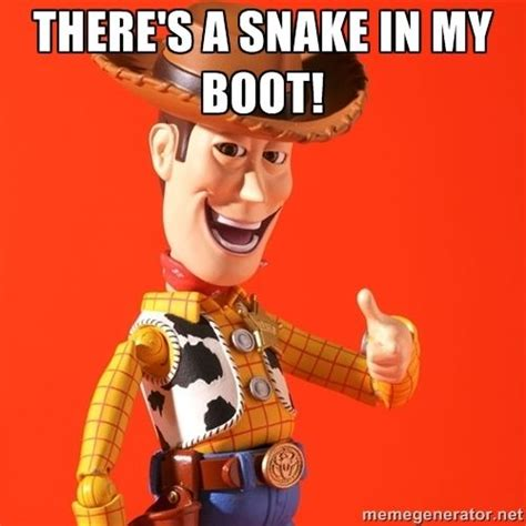 Revoltech Woody Meme - there s a snake in my boot toy story 2nd birthday party