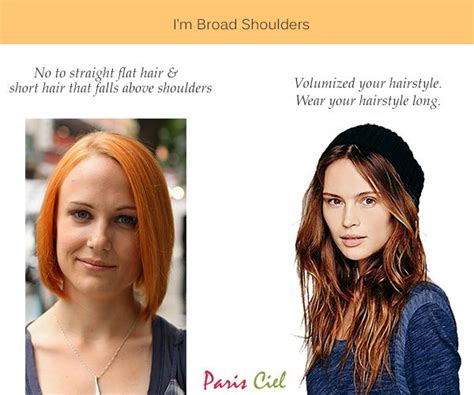 wide shoulders hair inverted triangle body shape straight flat hair will only