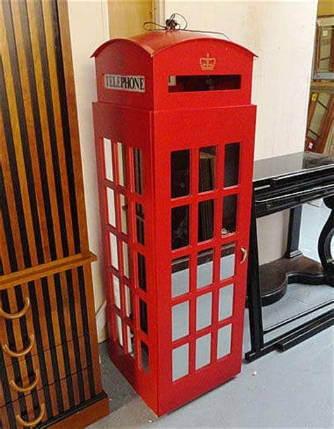 child s telephone box wardrobe with mirrored