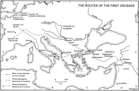 map of crusade crusades map of the routes of the crusade
