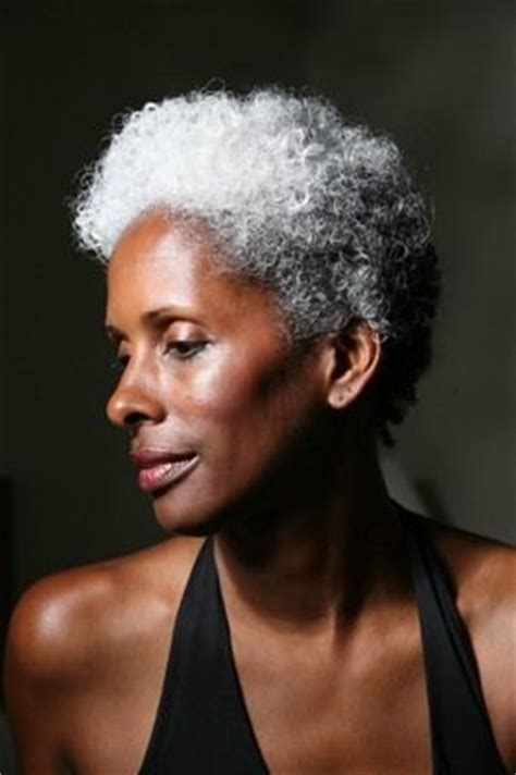 black women grey fro hawk 17 best images about grey hair on pinterest short grey