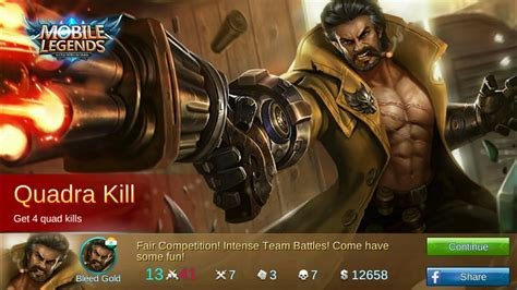Kaos Roger Mobile Legend 1 mobile legend getting quadra and mvp with new wolf roger