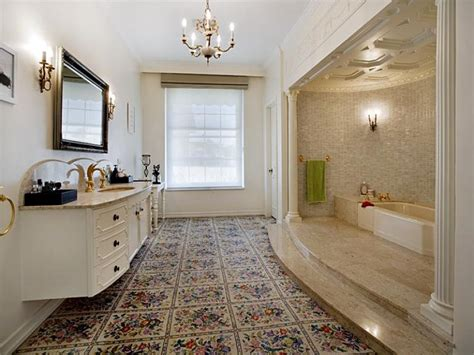 retro bathroom ideas retro bathroom design with recessed bath using marble bathroom photo 152490
