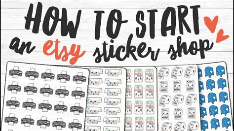 How To Start A Sticker Shop On Etsy