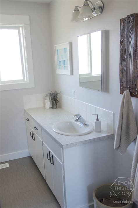 how to remodel a bathroom on a budget remodelaholic diy bathroom remodel on a budget and
