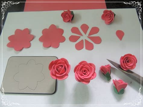 Handcrafted Flowers Make - cards crafts projects handmade foam flower