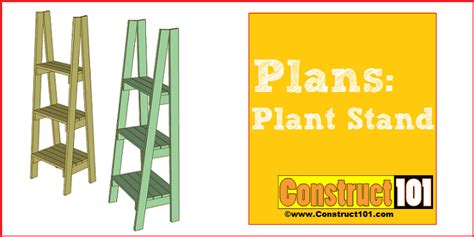 Planter Box With Bench Plans Diy Plant Stand Plans Construct101