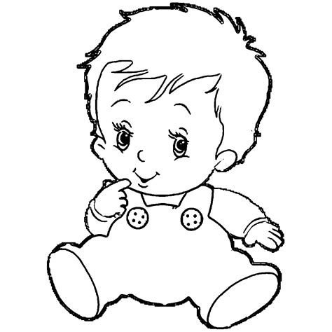 Baby Boy Coloring Pages Coloring Home Boy Coloring Page