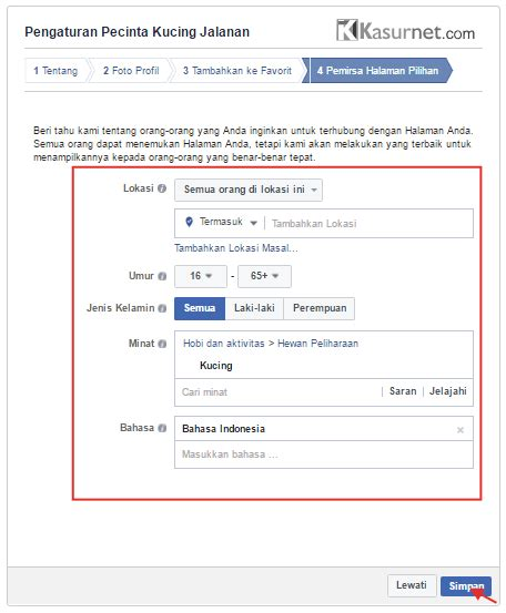 Membuat Fanspage Twitter | tutorial cara membuat fanspage facebook kasurnet com