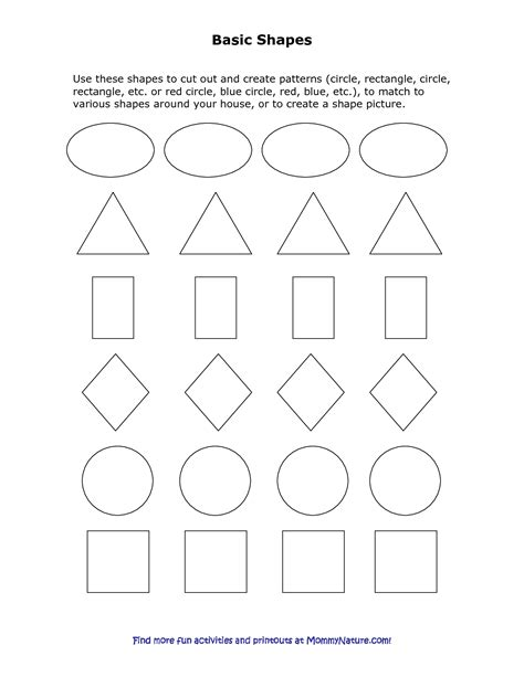 shape template 8 best images of printable shapes cut out pattern