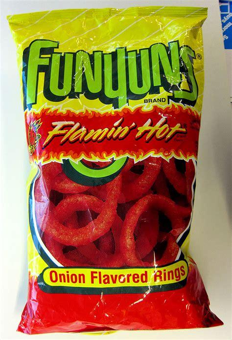 hot funyuns heb funyuns 174 flamin hot onion flavored rings tasty island
