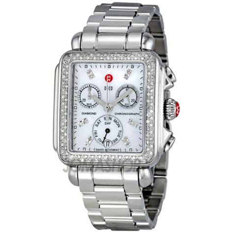 michele deco day of pearl stainless steel