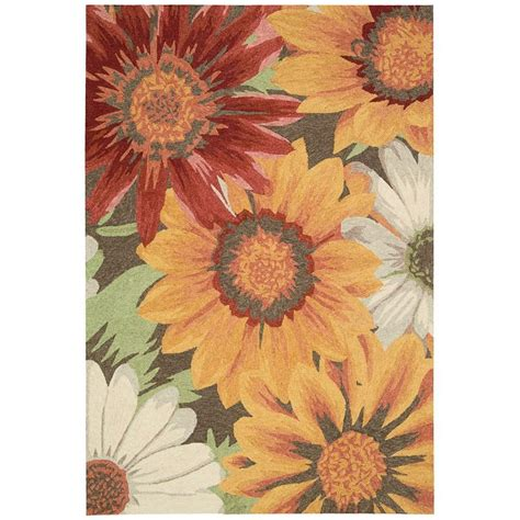 Nourison Overstock South Beach Sunflower 10 Ft X 13 Ft Overstock Indoor Outdoor Rug