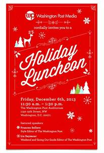 6 holiday lunch invitations jpg vector eps ai