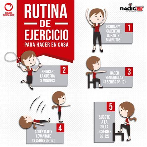 ejercicios de para hacer en casa 1 rutina de ejercicio para hacer en casa radio ley la