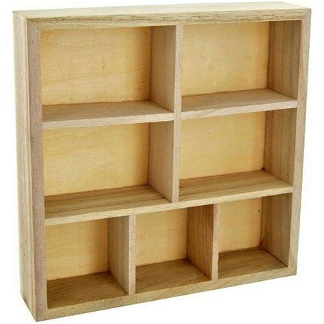 Wood Cube Shelf by Wood Wooden Craft Storage Unit Floating Wall Cube Display