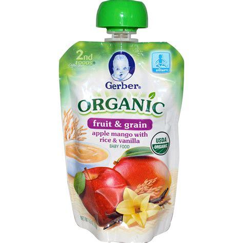 gerber s gerber 2nd foods organic baby food fruit and grain
