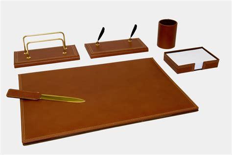 set scrivania mont blanc set scrivania 6 pz in pelle quot gemini quot made in italy orna