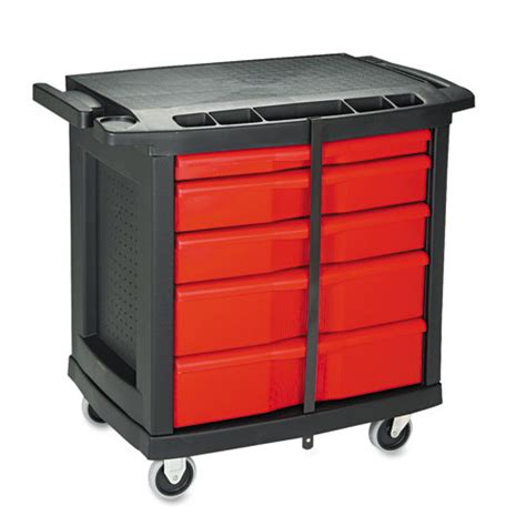 rcp773488 rubbermaid commercial five drawer mobile