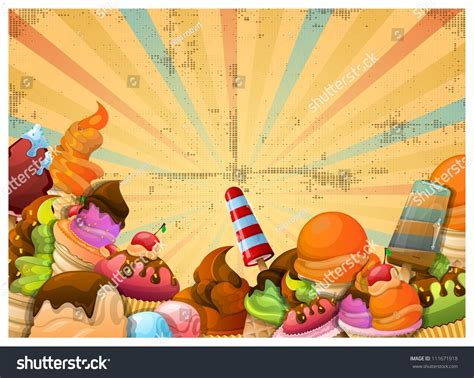 iced layout editor download ice cream background stock vector 111671918 shutterstock