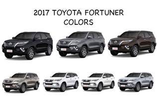 toyota colors 2017 new toyota fortuner colors black bronze brown grey