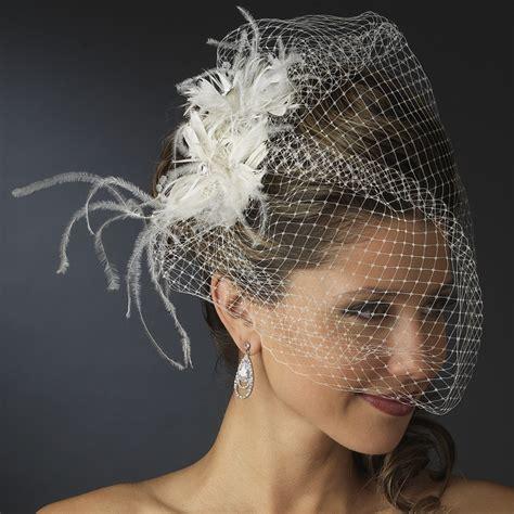 Feather Wedding Veil feather austrian bridal veil comb