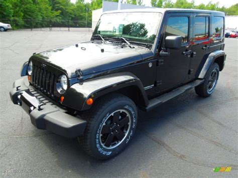 Jeep Unlimited Altitude Black 2012 Jeep Wrangler Unlimited Altitude 4x4 Exterior