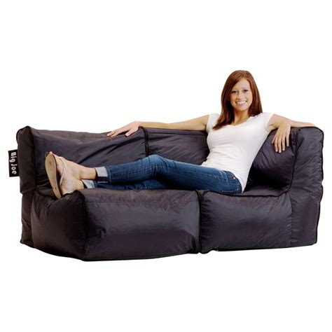 modular bean bag sofa big joe zip modular sofa stretch limo black as the big