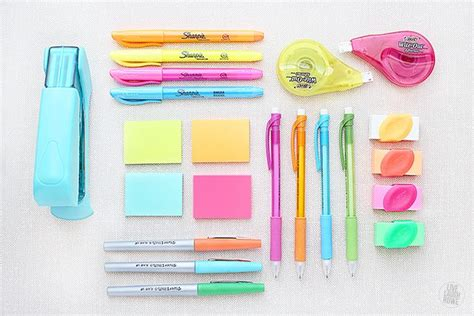 colorful office supplies office supplies to make life easier