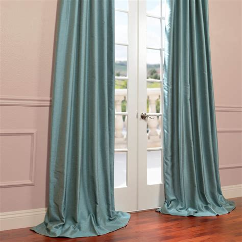 blue faux silk curtains blue agave yarn dyed faux dupioni silk curtain drapes