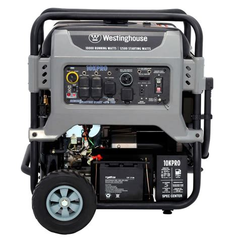 westinghouse 10kpro fully featured 10 000 watt portable