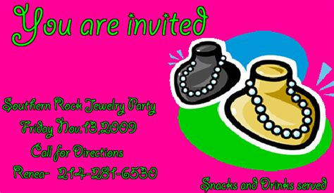 jewelry party invitation gangcraft net