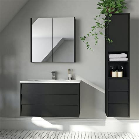 mode cooper anthracite black furniture package  wall
