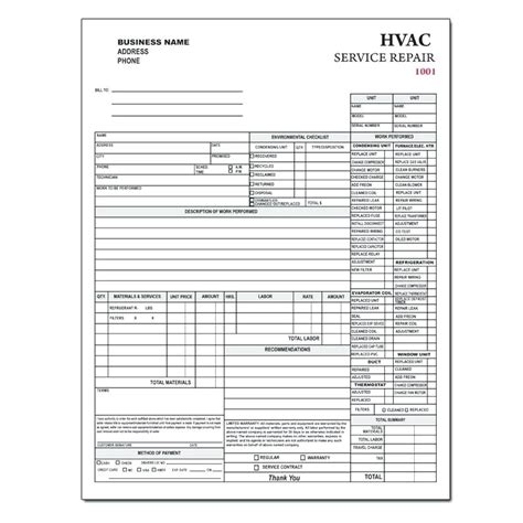 free printable hvac invoice template hvac invoice forms sop template apple pages document
