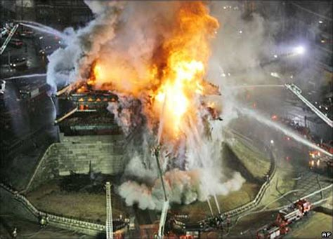 Semprotan Pemadam Kebakaran bbcindonesia berita foto gerbang kuno korea