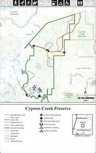cypress creek florida map cypress creek preserve central pasco county east of