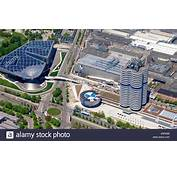 Aerial View To BMW World Museum And Four Cylinder