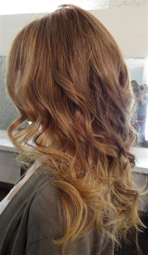 brunette to blonde ombre images golden dark blonde neil george