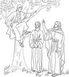 coloring pages jesus and zacchaeus jesus meets zacchaeus coloring page free printable