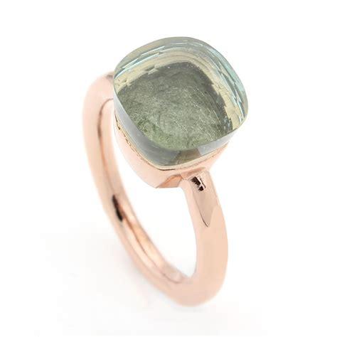 nudo ring replica pomellato nudo ring in gold with prasiolite