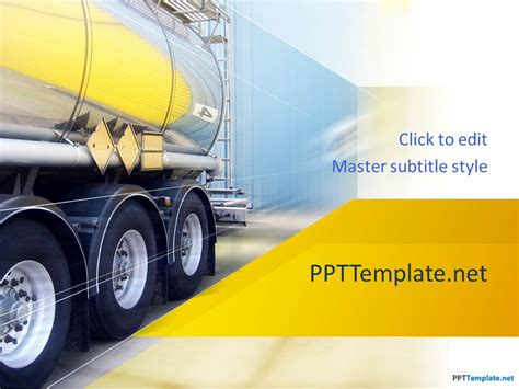 logistics powerpoint template free truck ppt template