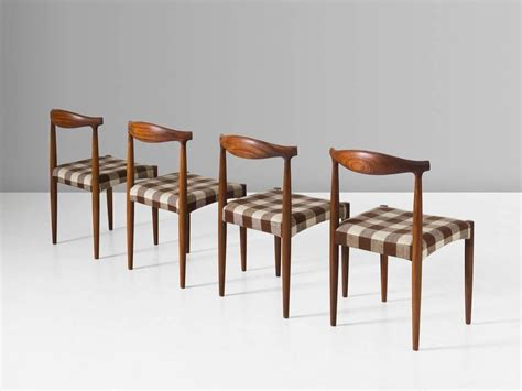 rosewood dining room furniture set of four danish dining room chairs in rosewood for sale
