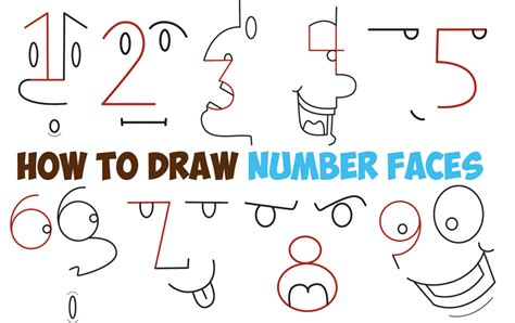 tutorial video numbers how to draw cartoon faces archives how to draw step by