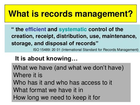 What Is Records Understanding Records Management Print And Electronic