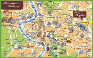 where is rome on a map rome sightseeing map