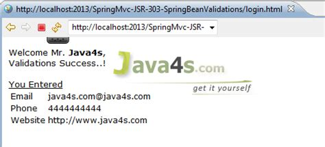 pattern annotation validation spring mvc annotation jsr 303 bean validation with