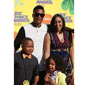Tia Mowry Hardrict With Husband Cory And Son Cree At The
